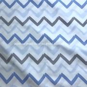 Поплин Зигзаги акварельные серо-голубые