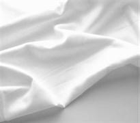 Поплин однотонный белый