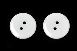 Пуговицы пластик на два прокола 15 мм белые