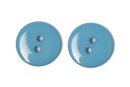 Пуговицы пластик на два прокола 15 мм голубые