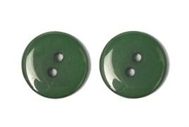 Пуговицы пластик на два прокола 15 мм темно-зеленые