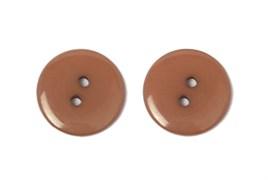 Пуговицы пластик на два прокола 15 мм коричневые