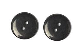 Пуговицы пластик на два прокола 15 мм черные