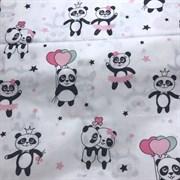 Поплин Влюбленные панды
