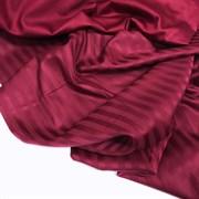 Страйп-сатин мерсеризованный бордо